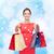笑みを浮かべて · エレガントな · 女性 · ドレス · ショッピングバッグ · ショッピング - ストックフォト © dolgachov