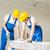 ház · csoport · mosolyog · sisakok · mutat · kézjel - stock fotó © dolgachov