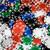 plastique · jeux · puces · rouge · blanche - photo stock © dolgachov