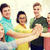 gelukkig · studenten · high · five · school · onderwijs · vriendschap - stockfoto © dolgachov