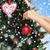 bal · vorm · kerstboom · decoratie · christmas · echt - stockfoto © dolgachov