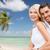 romantik · çift · plaj · balayı · seyahat - stok fotoğraf © dolgachov