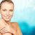 gyönyörű · fiatal · nő · meztelen · vállak · szépség · emberek - stock fotó © dolgachov
