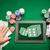 cartas · fichas · de · casino · póquer · mesa · casino · verde - foto stock © dolgachov