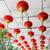 красный · подвесной · потолок · Китайский · Новый · год · празднования - Сток-фото © dolgachov