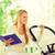 boldog · anya · könyv · park · család · gyermek - stock fotó © dolgachov