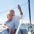 tengerjáró · hajó · nő · mobiltelefon · utazás · vakáció · óceán - stock fotó © dolgachov