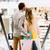 para · schodach · zamazany · poznania · ludzi · ruchu - zdjęcia stock © dolgachov