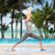 yoga · bella · donna · verde - foto d'archivio © dolgachov