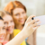 close up of friends taking selfie with smartphone stock photo © dolgachov