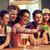 boldog · barátok · elvesz · kocsma · portré · nő - stock fotó © dolgachov