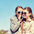 boldog · lány · suttog · titok · barátok · fül · emberek - stock fotó © dolgachov