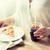 mujer · pizza · coca · cola · beber · de · comida · rápida - foto stock © dolgachov