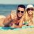 gelukkig · gezin · zonnebril · zomer · strand · familie · vakantie - stockfoto © dolgachov