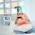 kadın · sanal · gerçeklik · kulaklık · 3D · teknoloji - stok fotoğraf © dolgachov
