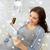 mulher · grávida · cartão · de · crédito · gravidez · férias · compras · on-line - foto stock © dolgachov