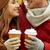 close up of happy couple with coffee in autumn stock photo © dolgachov