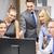 glimlachend · business · team · naar · business · kantoor - stockfoto © dolgachov
