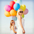 mother and child with colorful balloons stock photo © dolgachov