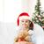 sorridente · menina · ajudante · seis · ursinho · de · pelúcia - foto stock © dolgachov