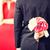 男 · 隠蔽 · 花束 · 花 · 後ろ · 戻る - ストックフォト © dolgachov