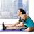 女性 · ストレッチング · 脚 · ルーム · 男 · 健康 - ストックフォト © dolgachov