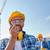 építész · munkavédelmi · sisak · adóvevő · ipar · épület · technológia - stock fotó © dolgachov