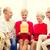 natal · apresentar · avô · feliz · sorridente - foto stock © dolgachov