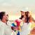 belo · jovem · noiva · buquê · de · casamento · potável · champanhe - foto stock © dolgachov