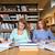 mutlu · Öğrenciler · yazı · kütüphane · insanlar - stok fotoğraf © dolgachov