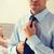 üzletember · nyakkendő · férfi · póló · stúdió · szín - stock fotó © dolgachov