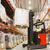 man · heftruck · vracht · magazijn · groothandel - stockfoto © dolgachov