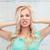 enojado · gritando · cabeza · blanco - foto stock © dolgachov
