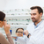 nő · választ · szemüveg · optika · bolt · egészségügy - stock fotó © dolgachov