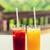 bril · ananas · sap · paar · voedsel - stockfoto © dolgachov