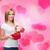 笑みを浮かべて · 若い女性 · ギフトボックス · 花 · 休日 · 人 - ストックフォト © dolgachov