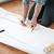 tekening · huis · menselijke · handen · geïsoleerd · witte - stockfoto © dolgachov