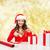 mulher · atraente · caixa · remoção · sorrir · adolescente - foto stock © dolgachov