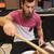 мужчины · музыканта · играет · барабан · музыку - Сток-фото © dolgachov