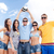 grupo · feliz · amigos · pelota · de · playa · verano · vacaciones - foto stock © dolgachov