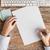 nő · kezek · üres · papír · kávé · kép · dolgozik - stock fotó © dolgachov