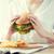 вкусный · Burger · свежие · деревенский · деревянный · стол - Сток-фото © dolgachov