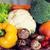 friss · érett · zöldségek · kosár · izolált · fehér - stock fotó © dolgachov