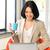 gelukkig · vrouw · laptop · computer · foto · business · kantoor - stockfoto © dolgachov