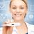 feliz · médico · clínico · termômetro · feminino - foto stock © dolgachov