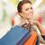 quadro · mulher · feliz · compras - foto stock © dolgachov