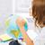 Mädchen · Studium · Welt · Schule · Karte · Kind - stock foto © dolgachov