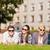 groupe · élèves · adolescents · suspendu · sur · été - photo stock © dolgachov