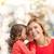 mãe · filha · fofoca · natal - foto stock © dolgachov