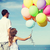 partij · ballonnen · hemel · blauwe · hemel · abstract · licht - stockfoto © dolgachov